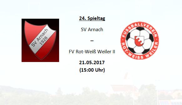 Endspurt der Saison: Vorletztes Heimspiel gegen Weiler II