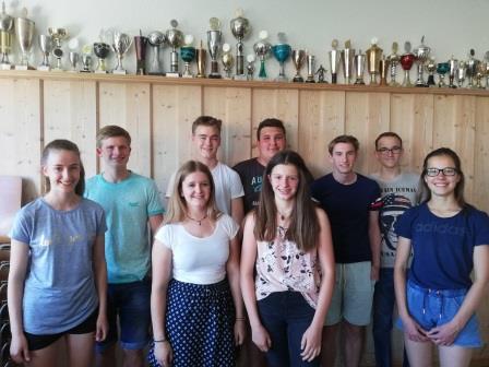 Neu gewählter Jugendausschuss des SV Arnach